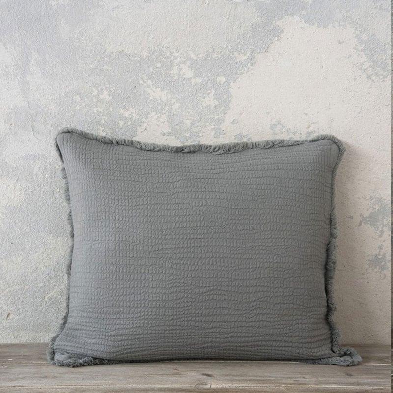 Μαξιλάρι Διακοσμητικό (Με Γέμιση) Blando Dark Gray Nima 45X45 100% Βαμβάκι