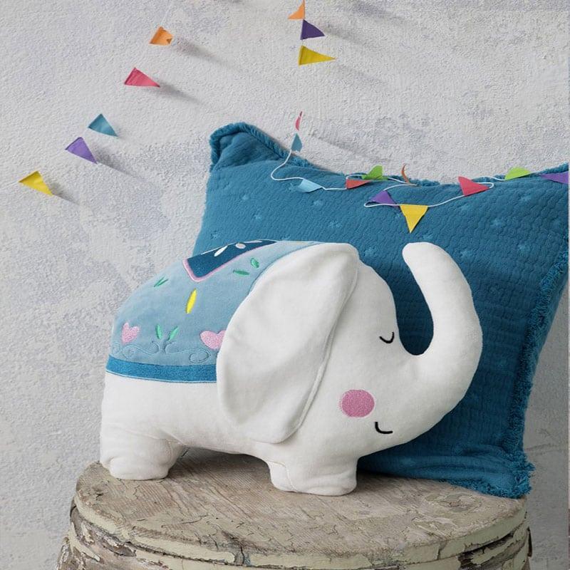Μαξιλάρι Διακοσμητικό (Με Γέμση) Παιδικό Chirpy White-Blue Nima 40Χ40