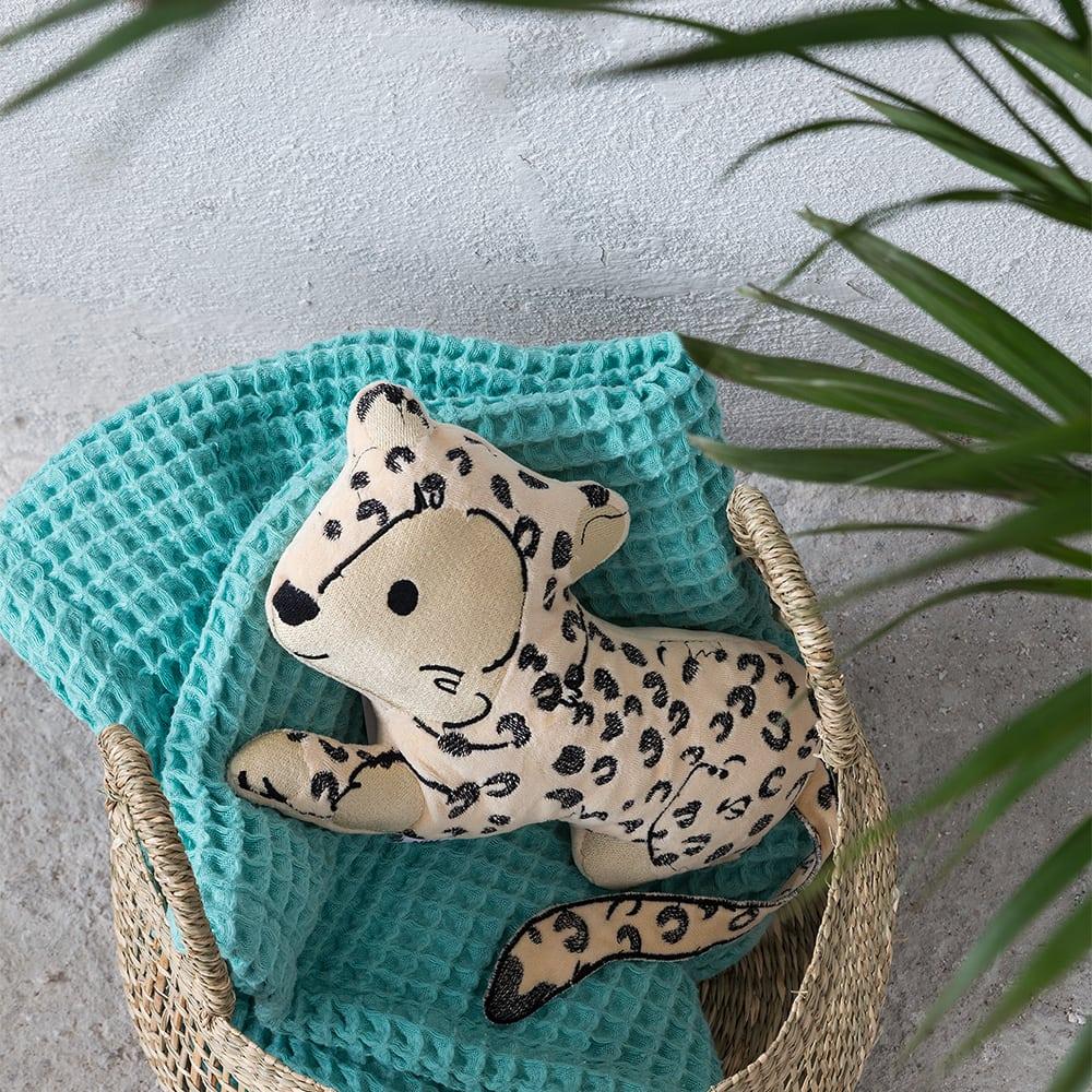 Μαξιλάρι Διακοσμητικό (Με Γέμση) Παιδικό Sleepy Panther Beige-Black Nima 30X30