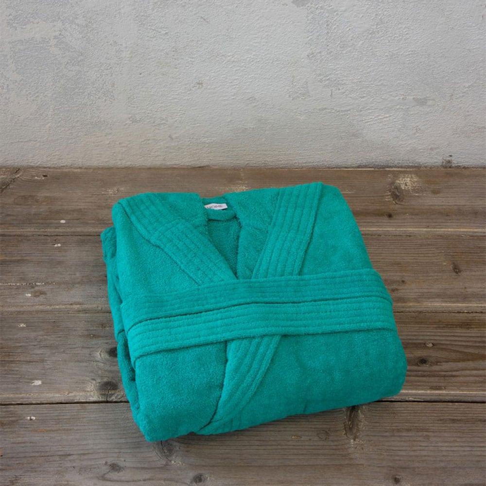 Μπουρνούζι Zen Με Κουκούλα Emerald Blue Nima Large