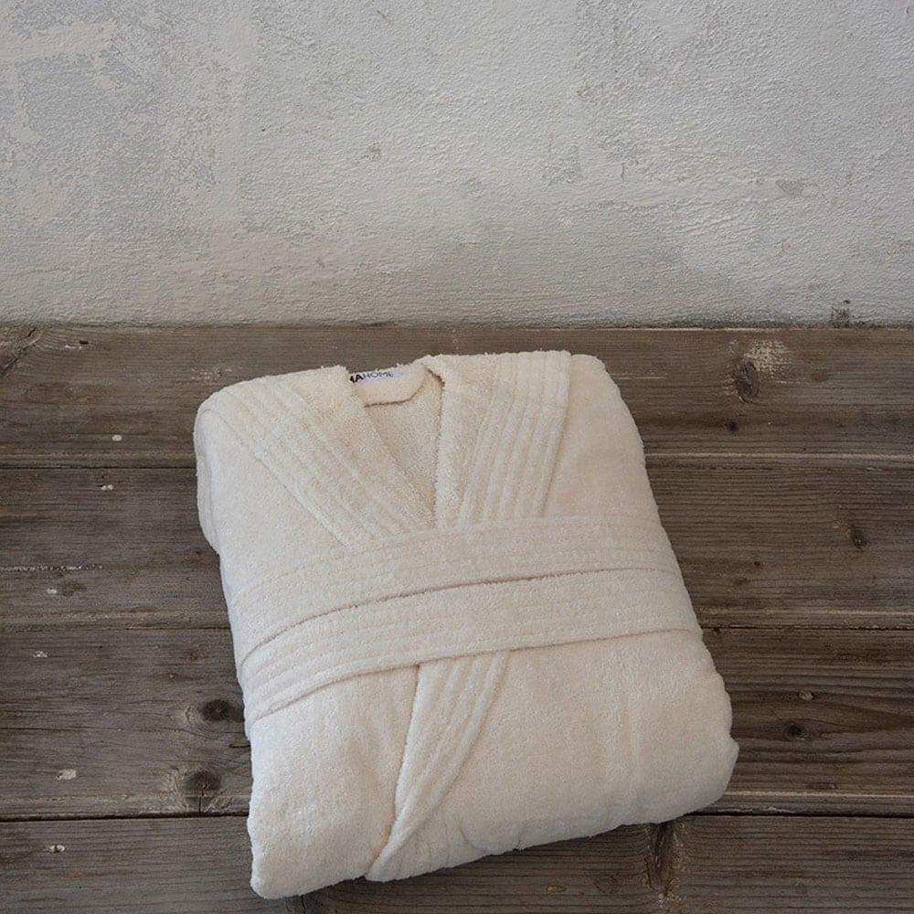 Μπουρνούζι Zen Με Κουκούλα Σε Κουτί Light Beige Nima Medium M
