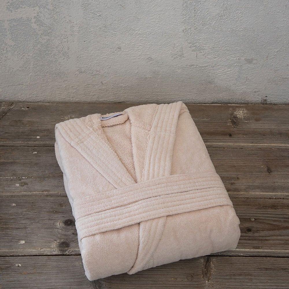 Μπουρνούζι Zen Με Κουκούλα Σε Κουτί Light Pink Nima Large L