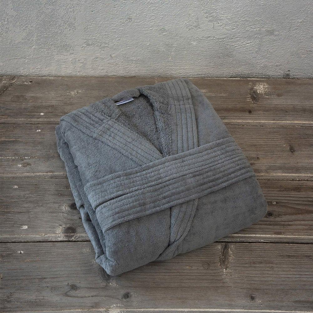 Μπουρνούζι Zen Με Κουκούλα Σε Κουτί Gray Nima XX-Large XXL