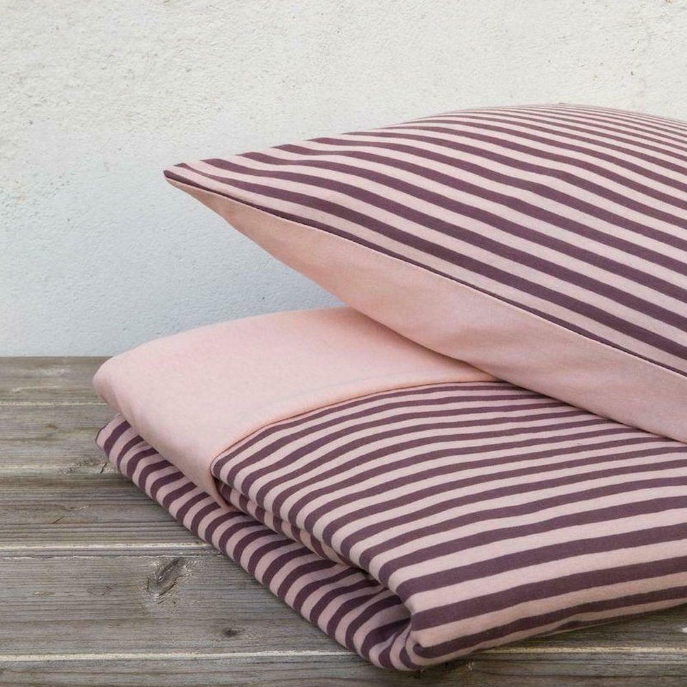 Παπλωματοθήκη Suave Σετ 2τμχ Dark Pink Nima Μονό 160x240cm