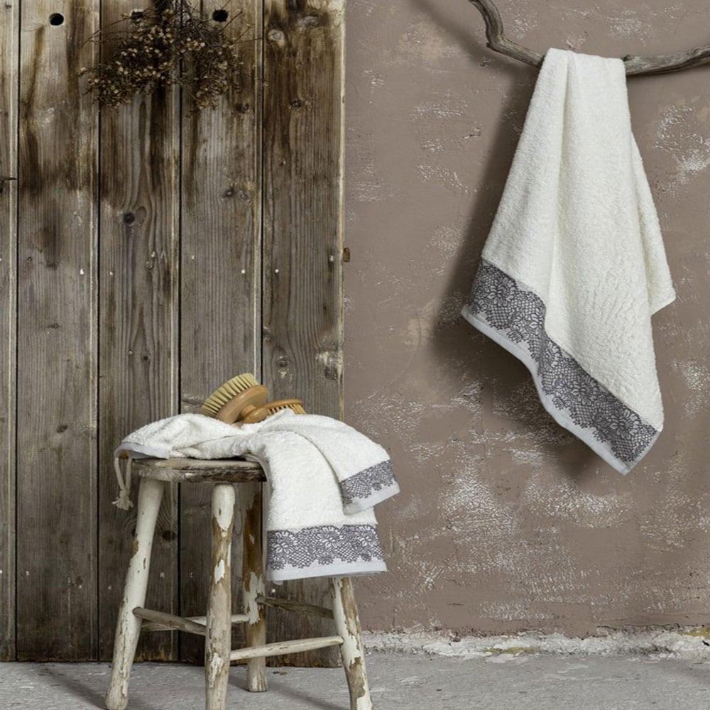Πετσέτα Elodie Light Gray Nima Χεριών 30x50cm
