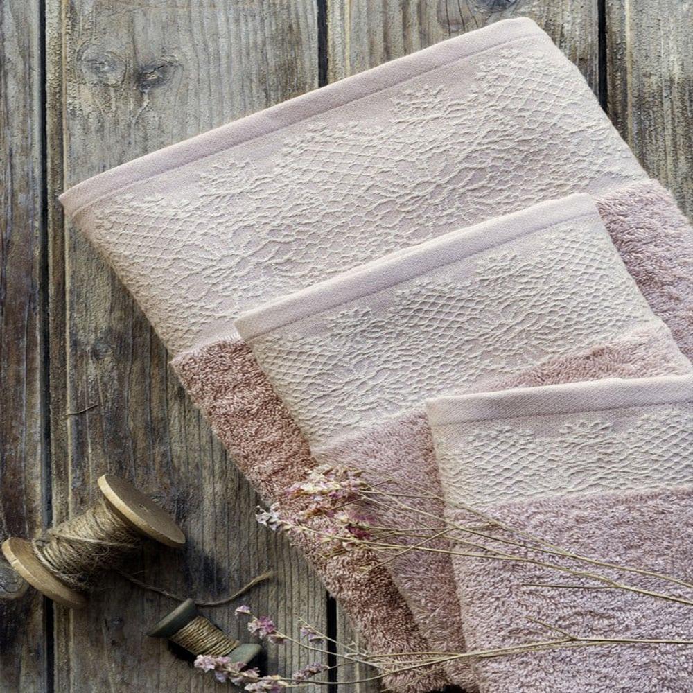 Πετσέτα Elodie Smoke Gray Nima Προσώπου 50x90cm
