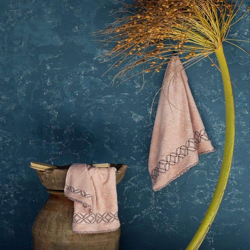 Πετσέτα Leona Pink Nima Χεριών 30x50cm