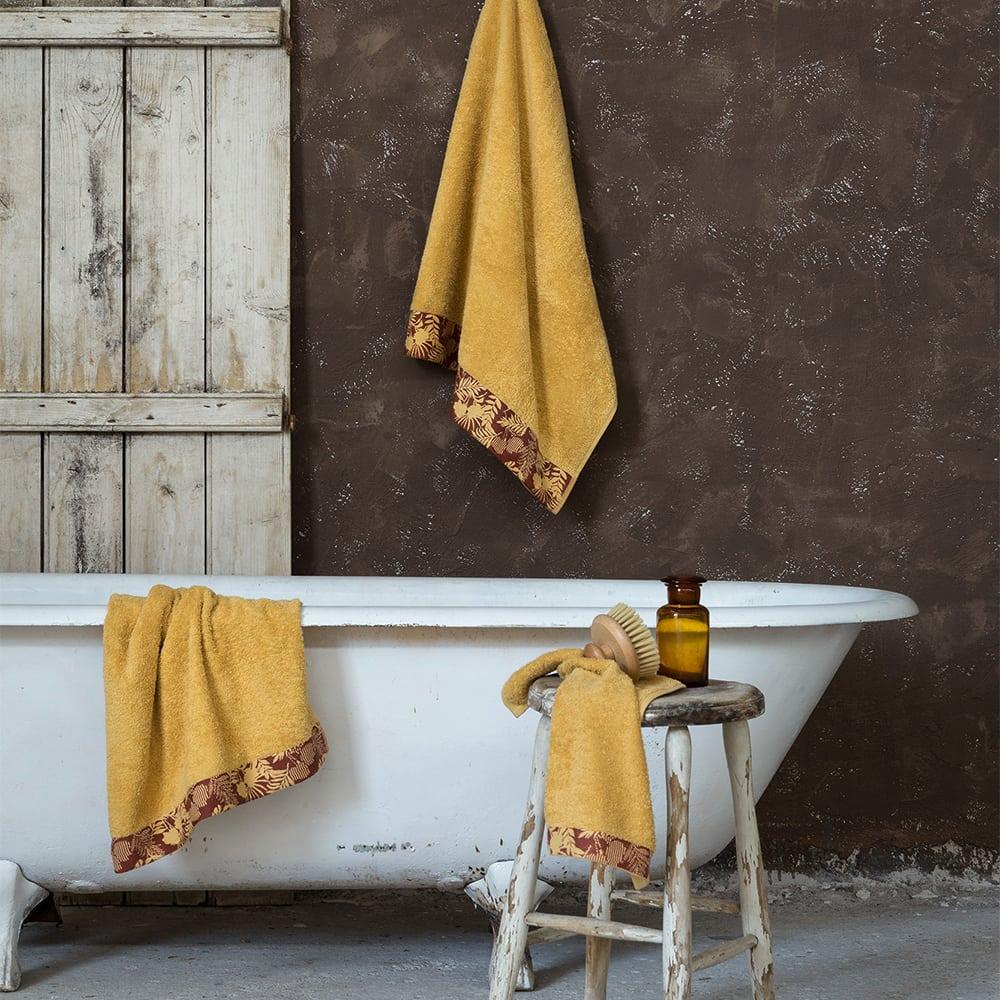 Πετσέτα Nashrin Mustard Beige Nima Προσώπου 50x90cm