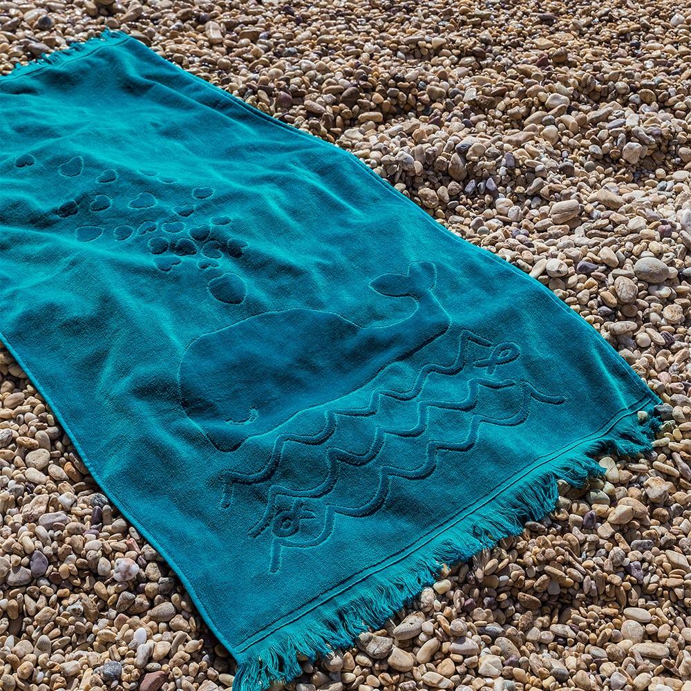 Πετσέτα Θαλάσσης Playtime Jacquard Petrol Nima Θαλάσσης