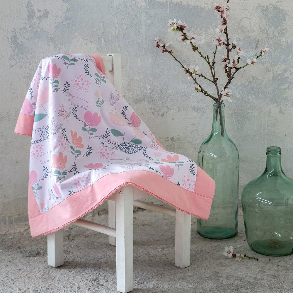 Πετσέτα Θαλάσσης Βρεφική Toco Toucan White-Pink Nima Θαλάσσης
