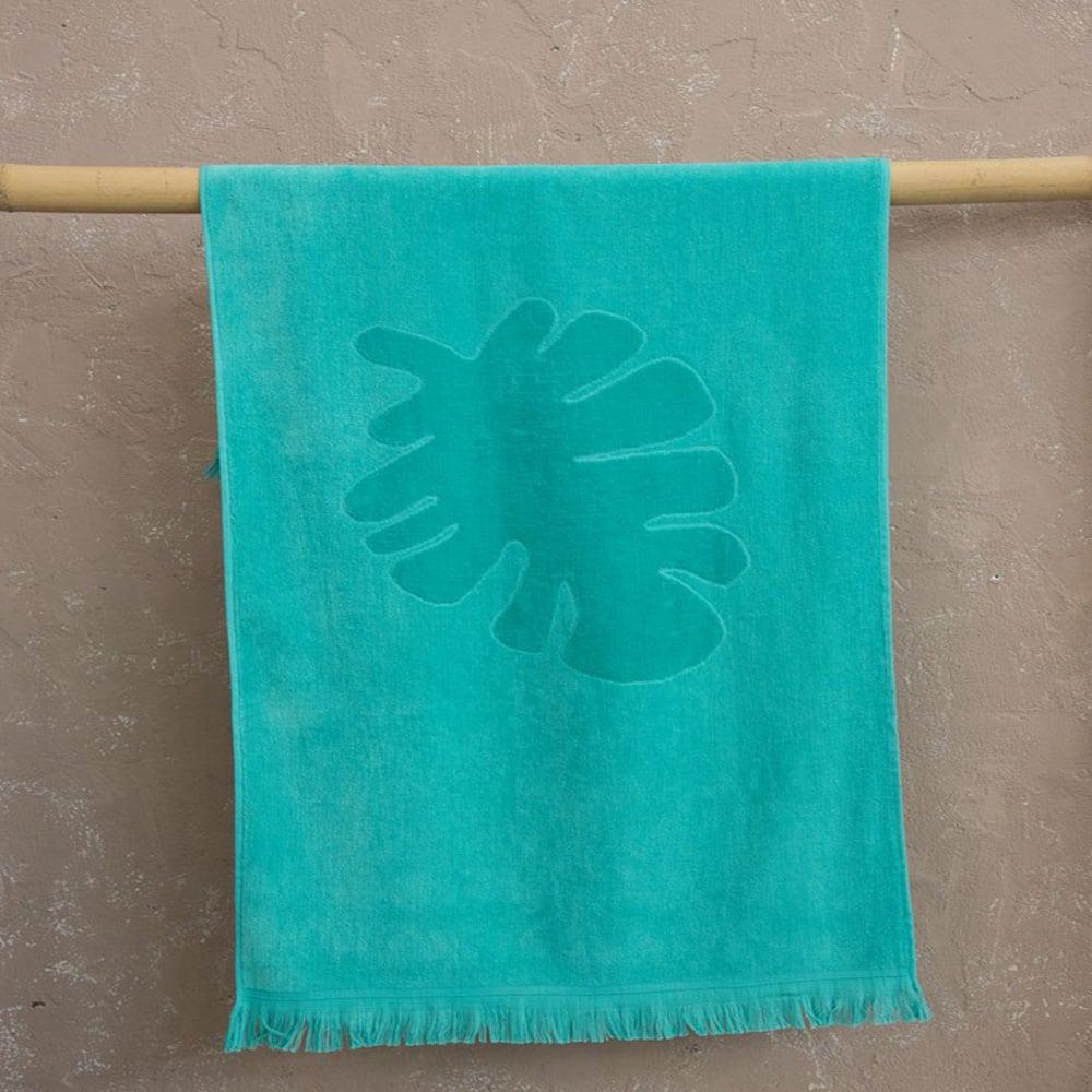 Πετσέτα Θαλάσσης Παιδική Bubba Jacquard Turqoise Nima Θαλάσσης