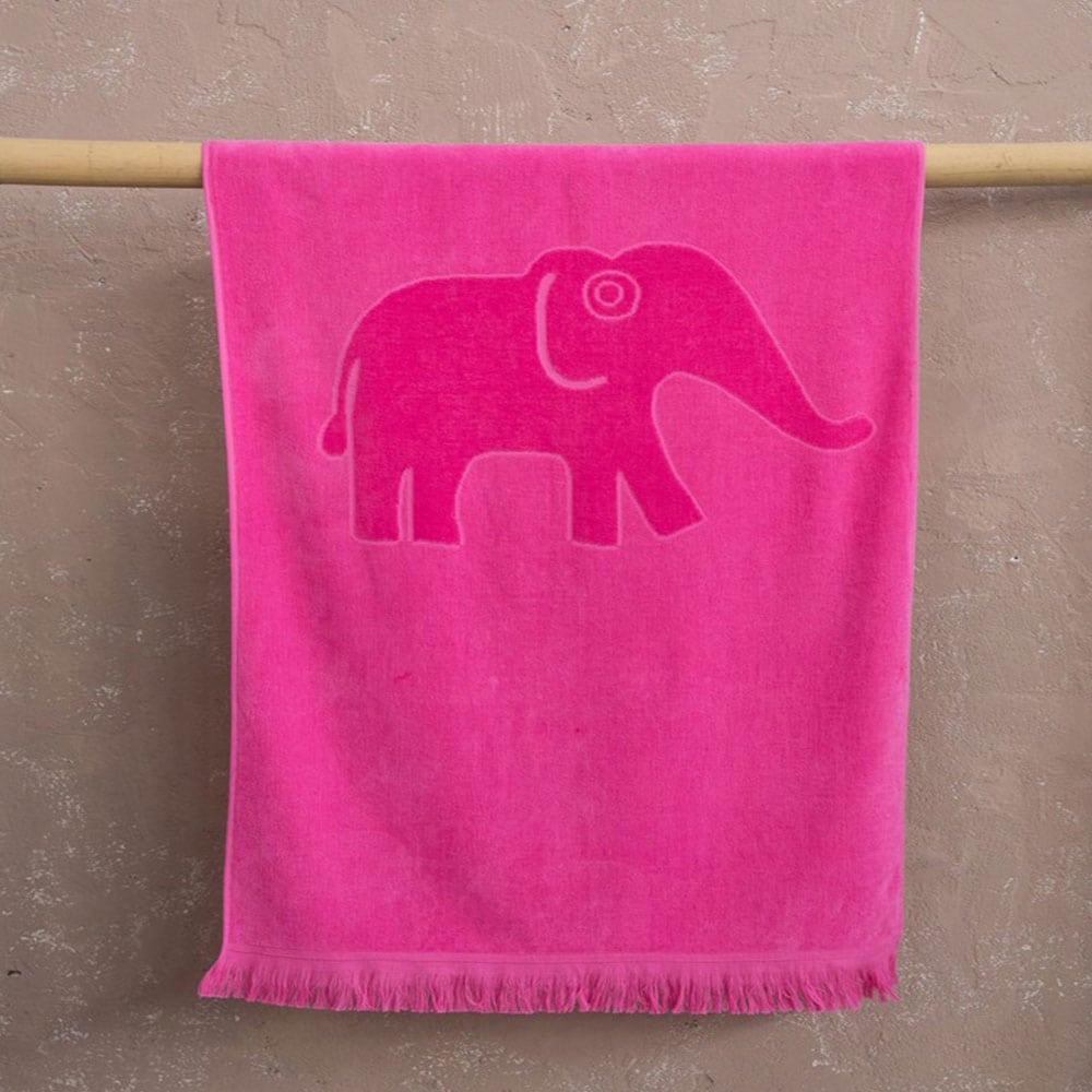 Πετσέτα Θαλάσσης Παιδική Koko Jacquard Fuchsia Nima Θαλάσσης
