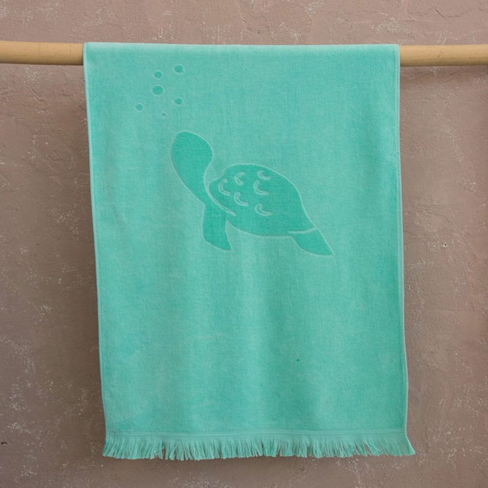 Πετσέτα Θαλάσσης Παιδική Mermaids Jacquard Turqoise Nima Θαλάσσης