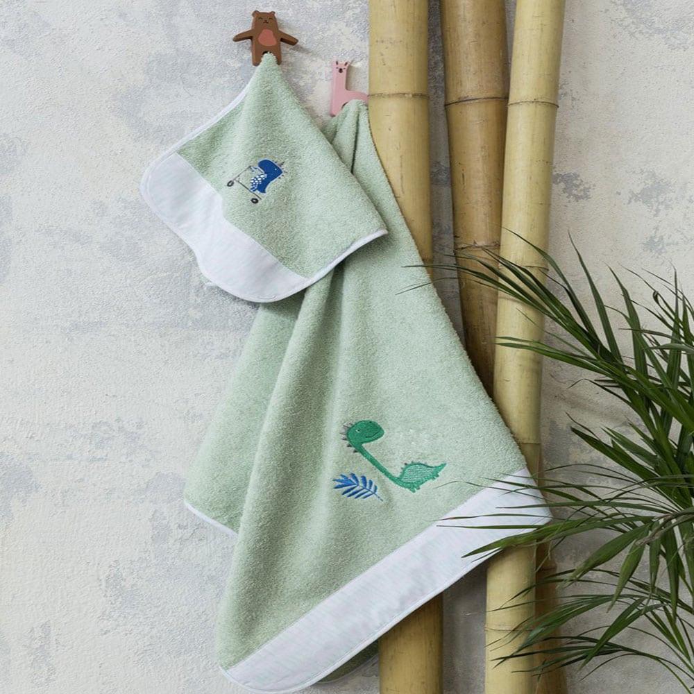 Πετσέτα Παιδική Dinoskating Mint Nima Προσώπου