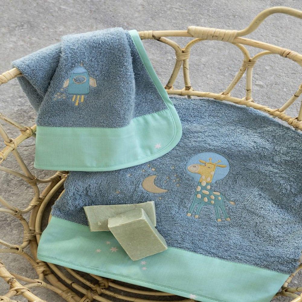 Πετσέτα Παιδική Starzone Blue Nima Χεριών 30x50cm