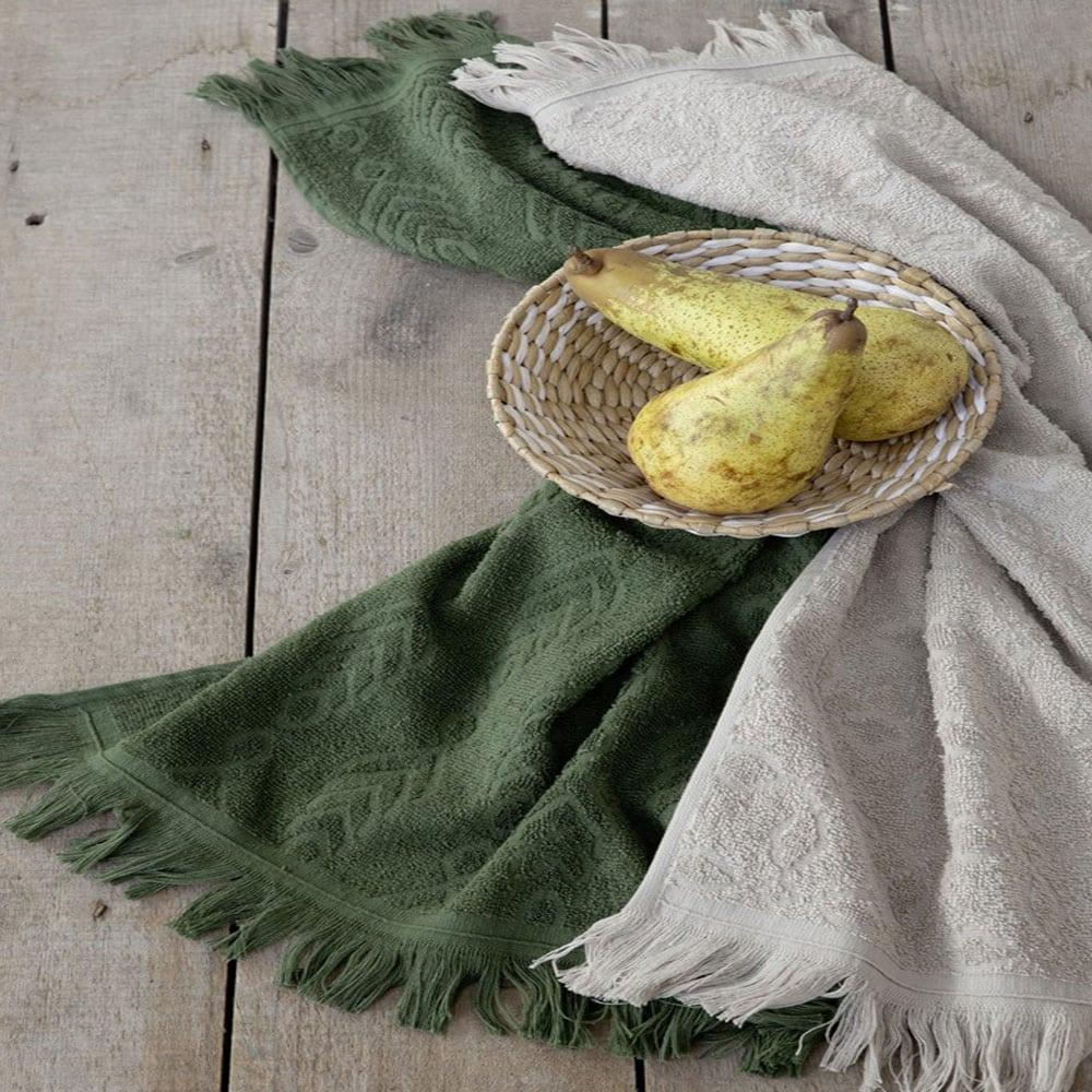Πετσέτες Pliant Σετ 2τμχ Green-Beige Nima Σετ Πετσέτες 50x70cm