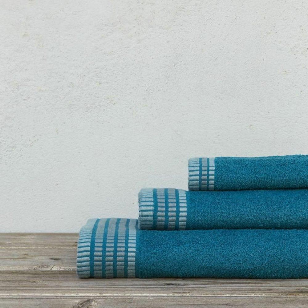 Πετσέτες Siren Σετ 3τμχ Blue Nima Σετ Πετσέτες 70x140cm