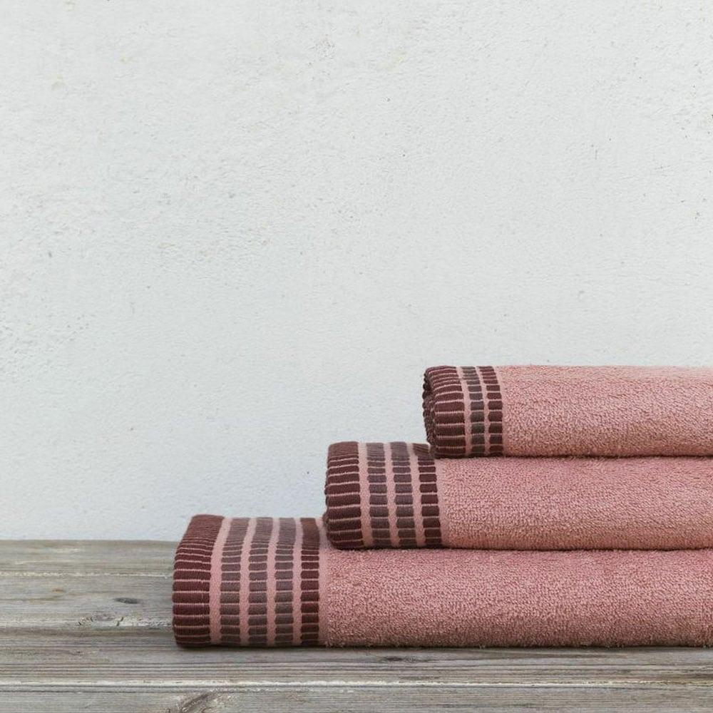 Πετσέτες Siren Σετ 3τμχ Coral Nima Σετ Πετσέτες 70x140cm