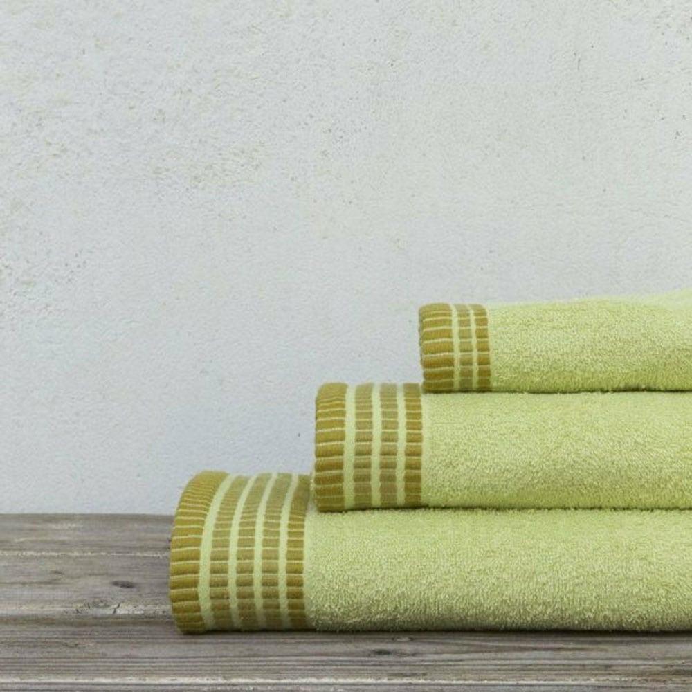 Πετσέτες Siren Σετ 3τμχ Lime Green Nima Σετ Πετσέτες 70x140cm