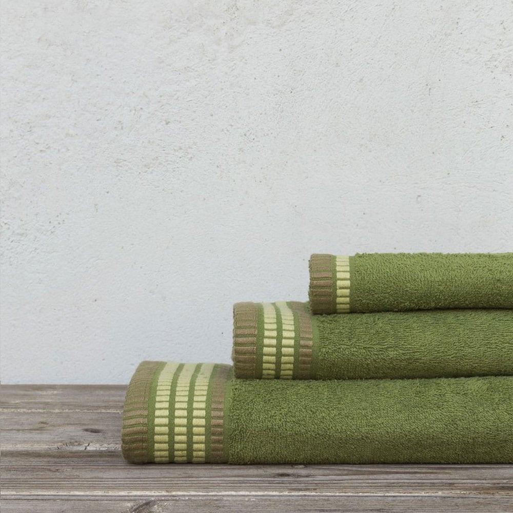Πετσέτες Siren Σετ 3τμχ Olive Nima Σετ Πετσέτες 70x140cm