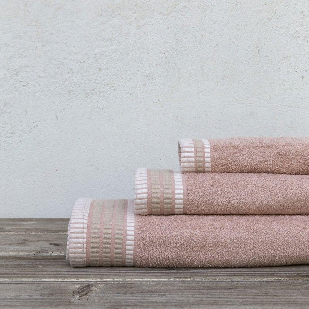 Πετσέτες Siren Σετ 3τμχ Pink Nima Σετ Πετσέτες 70x140cm