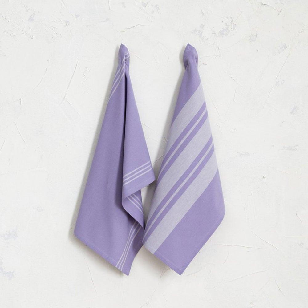 Πετσέτες Κουζίνας Fancy Σετ 2τμχ Purple Nima 50x70cm