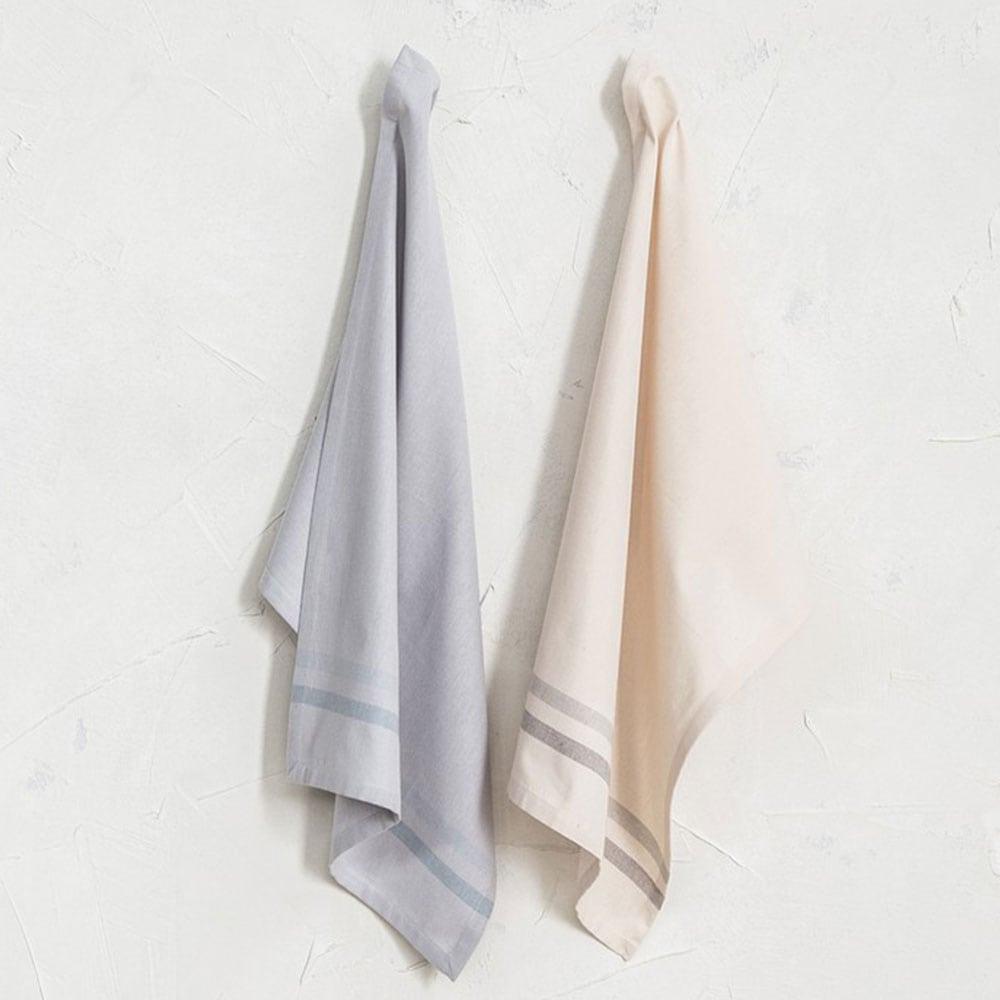 Πετσέτες Κουζίνας Siren Σετ 2τμχ Grey-Somon Nima 50x70cm