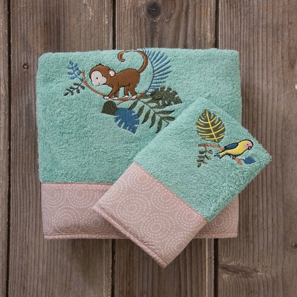 Πετσέτες Παιδικές Affe Σετ 2τμχ Green-Beige Nima Σετ Πετσέτες
