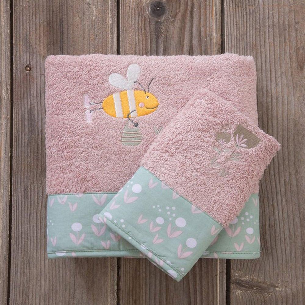 Πετσέτες Παιδικές Bumblebee Σετ 2τμχ Pink-Green Nima Σετ Πετσέτες