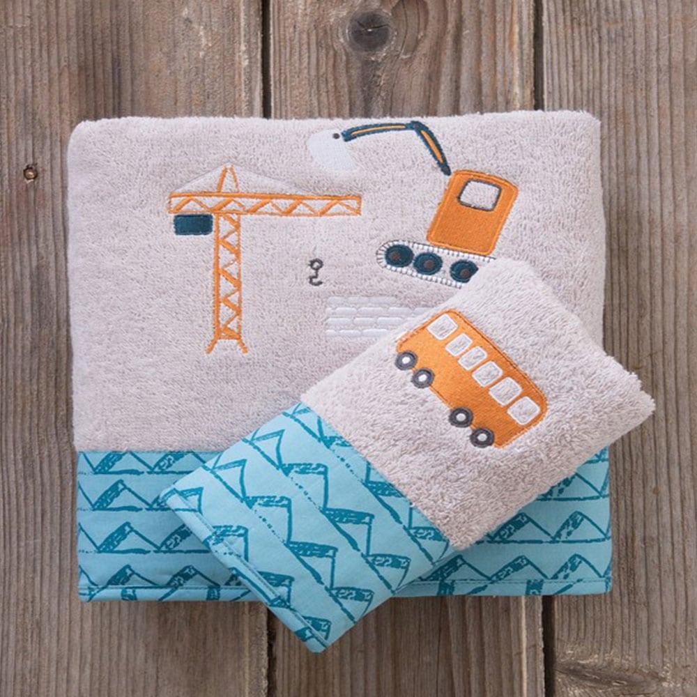 Πετσέτες Παιδικές Kaboodle Σετ 2τμχ White-Blue Nima Σετ Πετσέτες