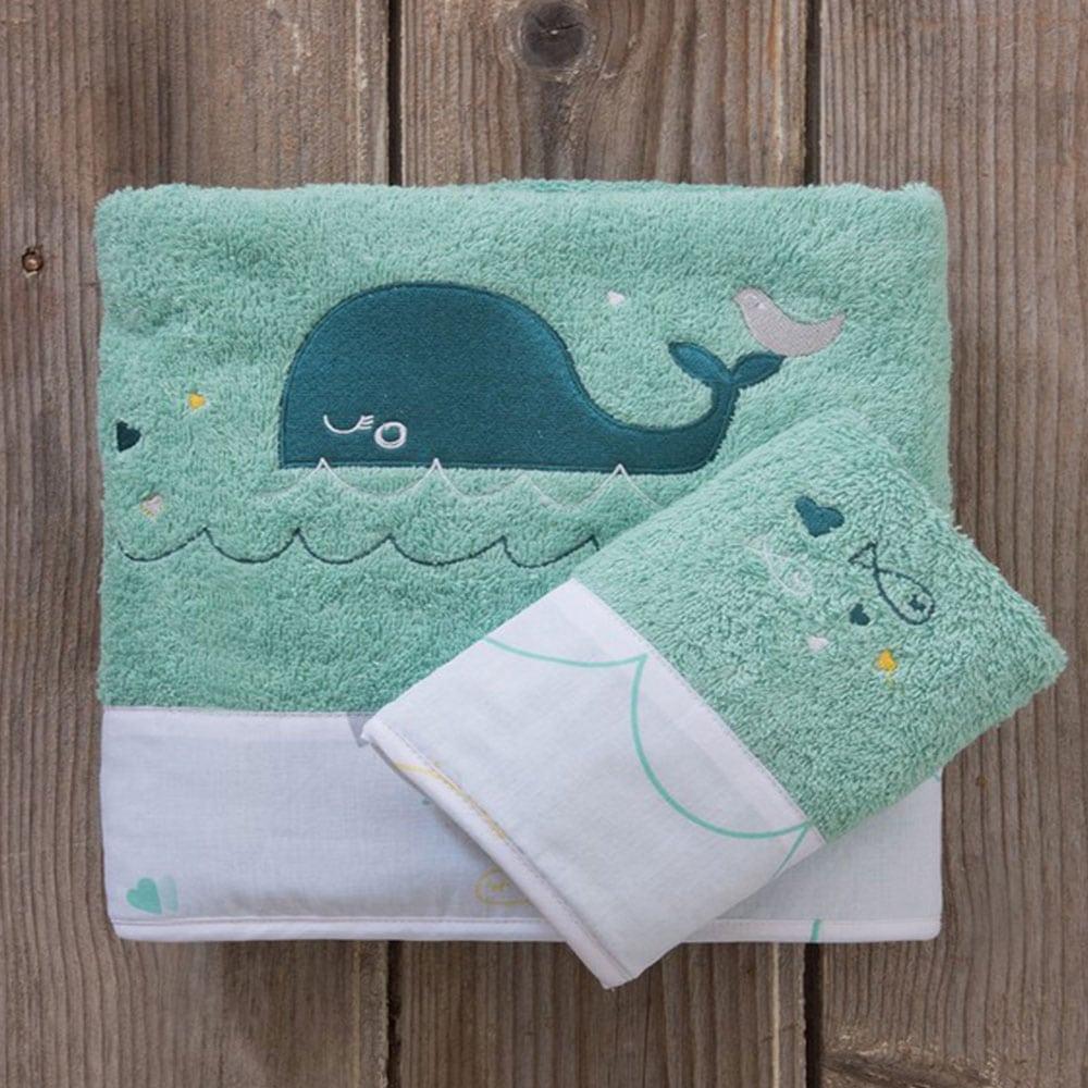 Πετσέτες Παιδικές Playtime Σετ 2τμχ Green-Blue Nima Σετ Πετσέτες