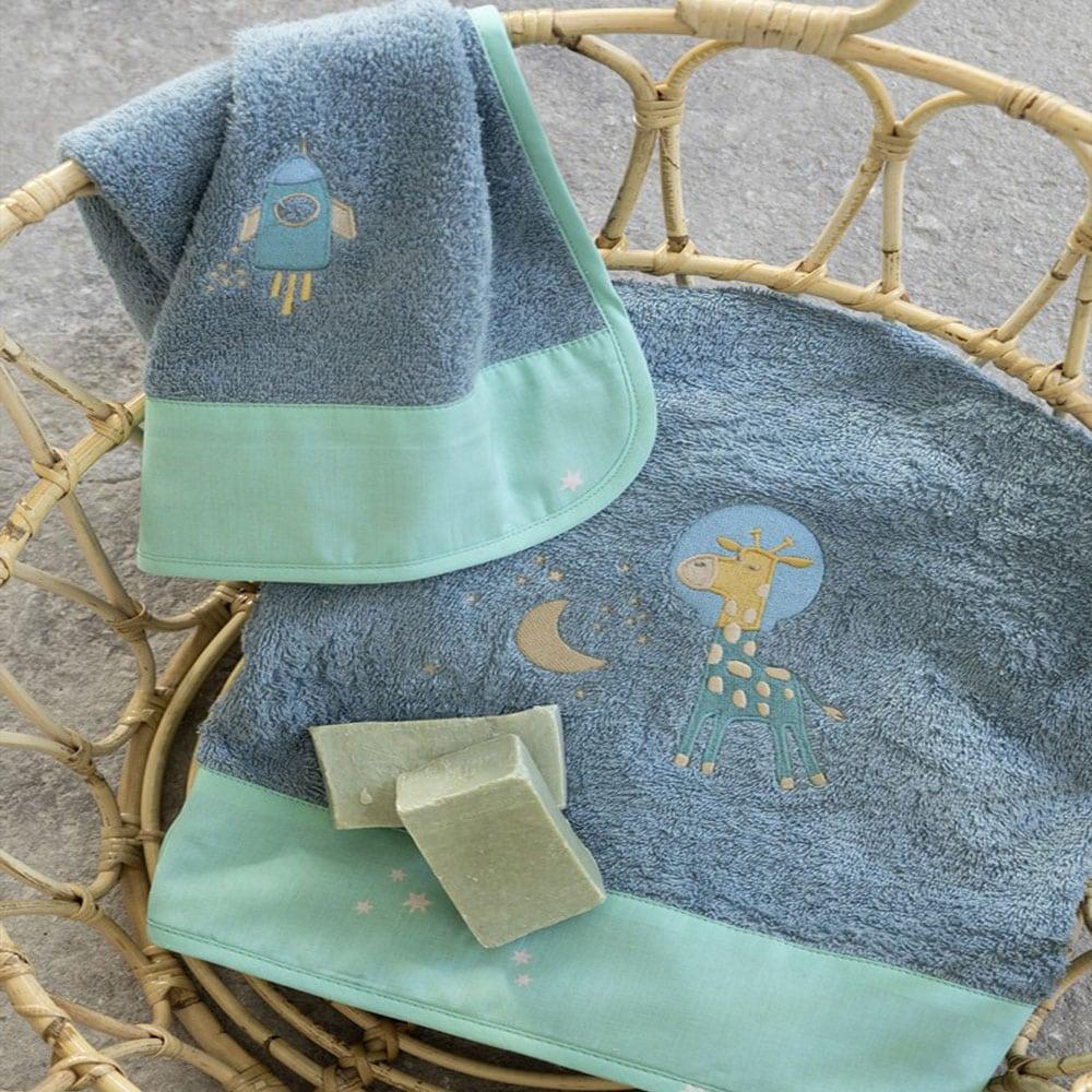 Πετσέτες Παιδικές Starzone Σετ 2τμχ Blue-Green Nima Σετ Πετσέτες