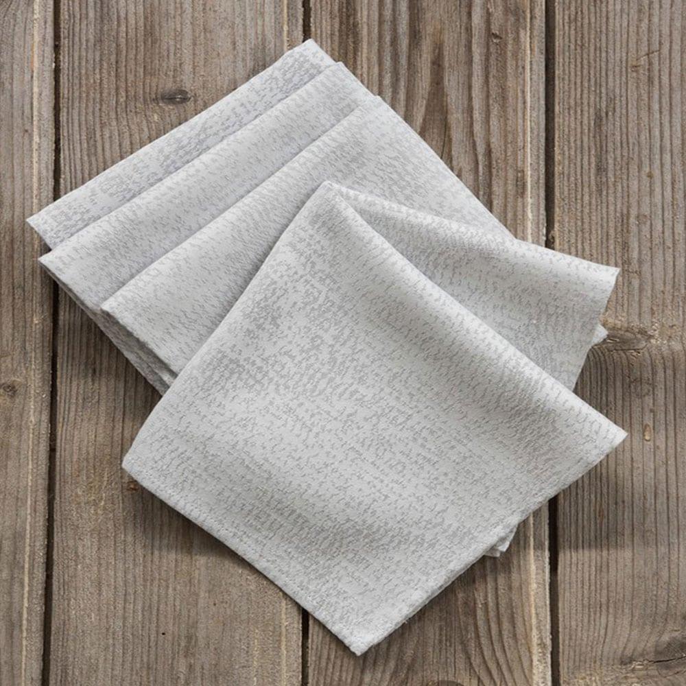 Πετσέτες Φαγητού Elation Σετ 4τμχ Gray Nima