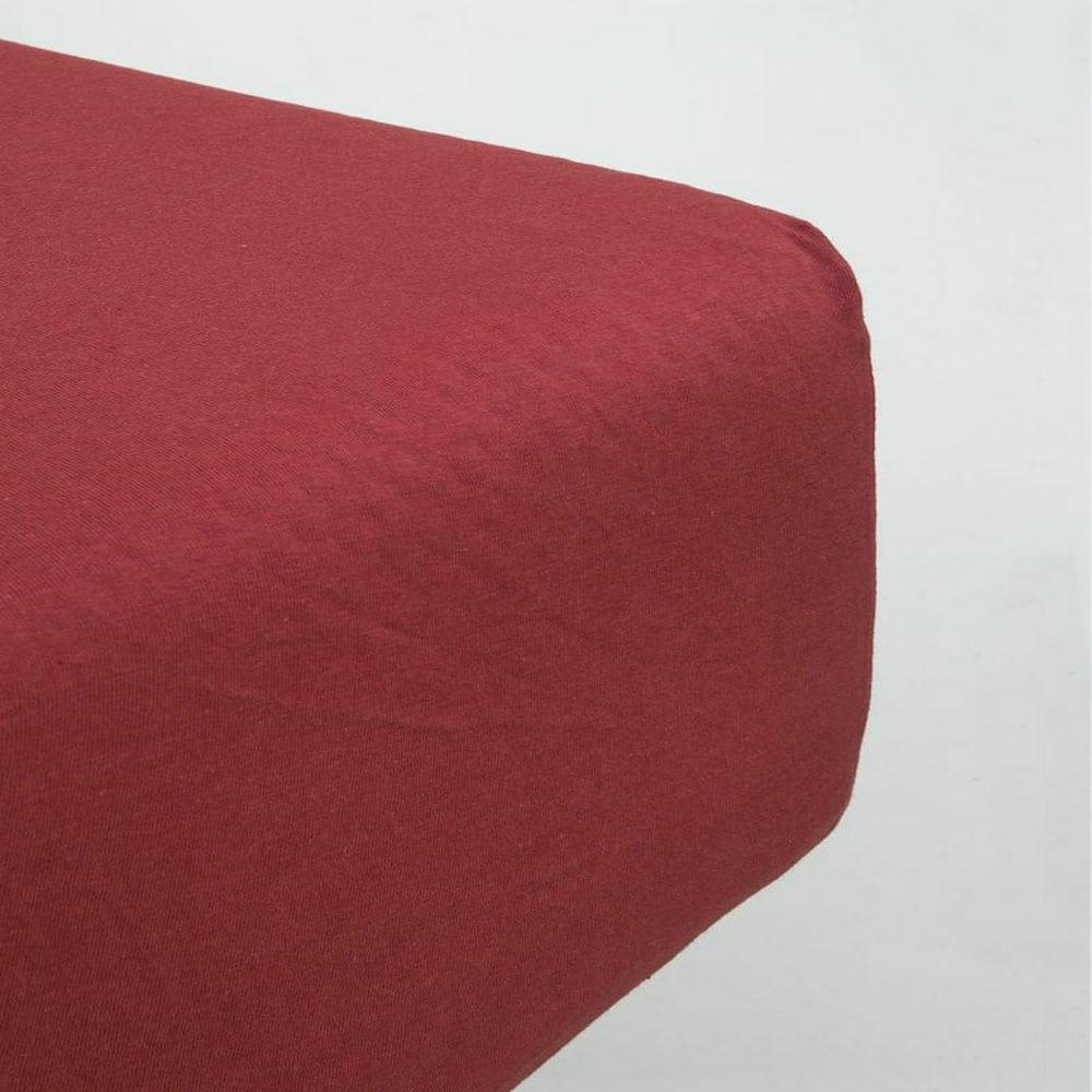 Σεντόνι Με Λάστιχο Naem Dark Terracotta Nima Μονό 100x230cm