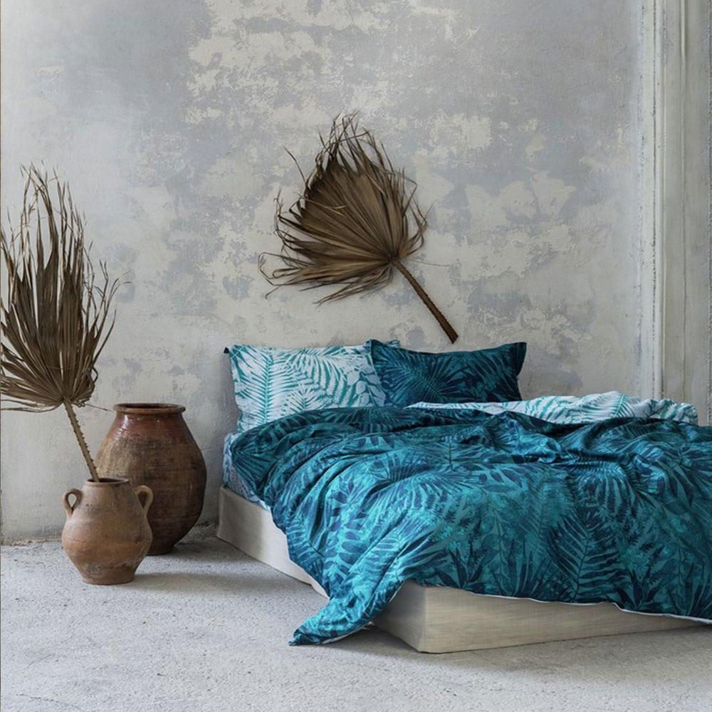 Σεντόνια Feral Σετ 4τμχ Blue Nima King Size 270x280cm