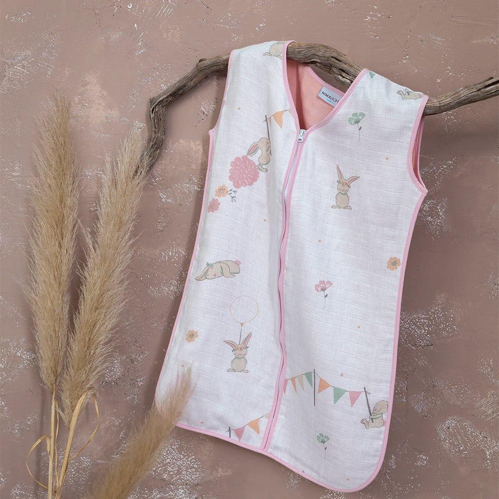 Υπνόσακος Βρεφικός Καλοκαιρινός Bunny Love Pink Nima 0-2 ετών