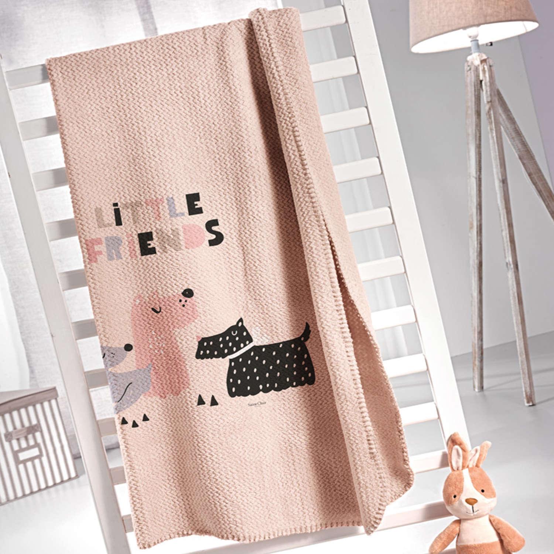 Κουβέρτα Παιδική Doggy Pink Saint Clair Μονό 160x220cm