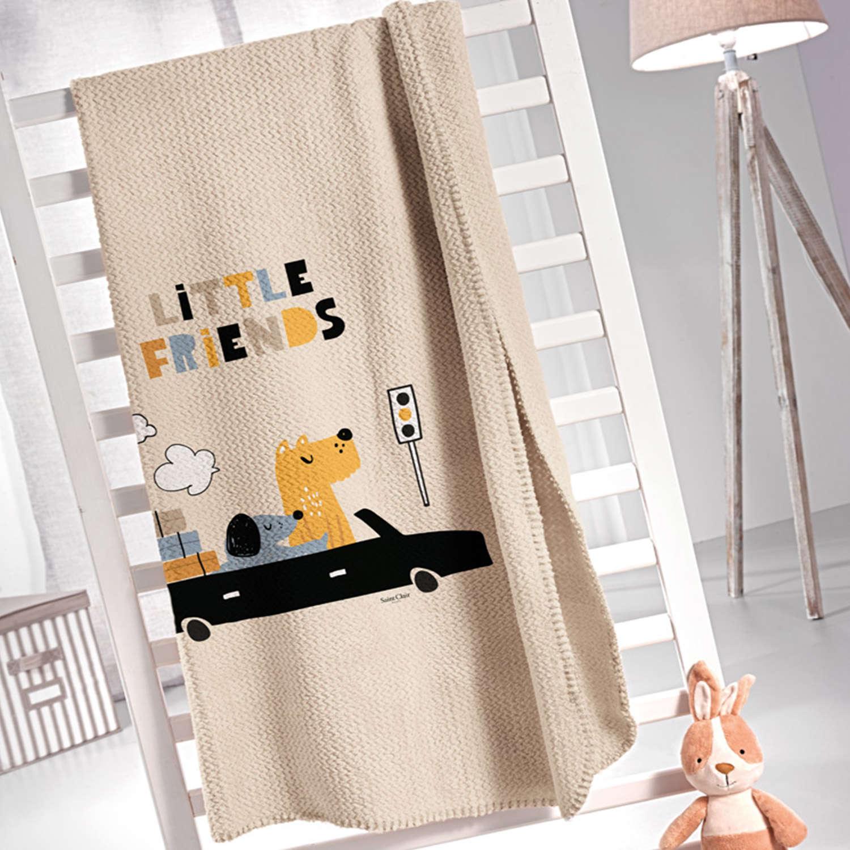 Κουβέρτα Παιδική Doggy Blue Saint Clair Μονό 160x220cm