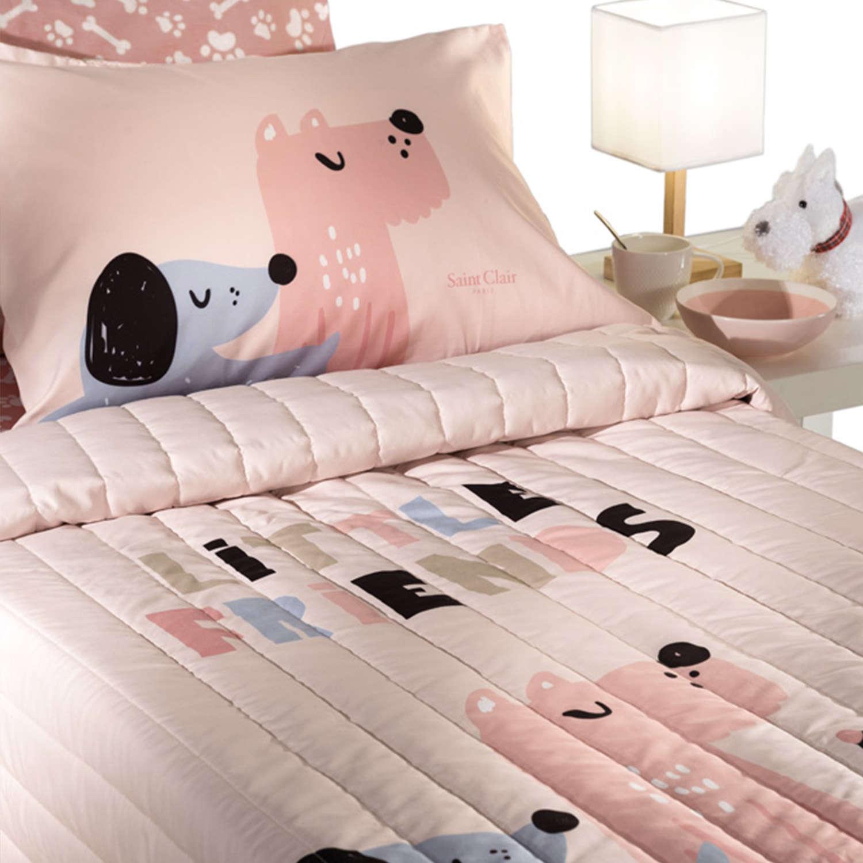 Μαξιλαροθήκη Παιδική Doggy Pinky Saint Clair 50Χ70 50x70cm