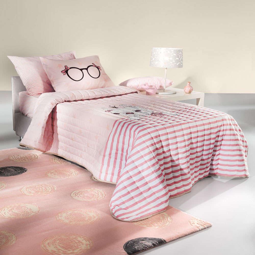 Πάπλωμα Παιδικό Rosie Pinky Suede Saint Clair Μονό 160x220cm