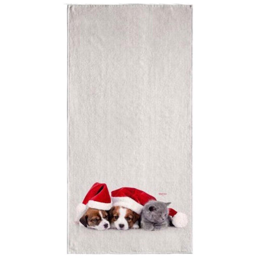 Πετσέτα Christmas 6003 Ecru – Red Saint Clair Σώματος
