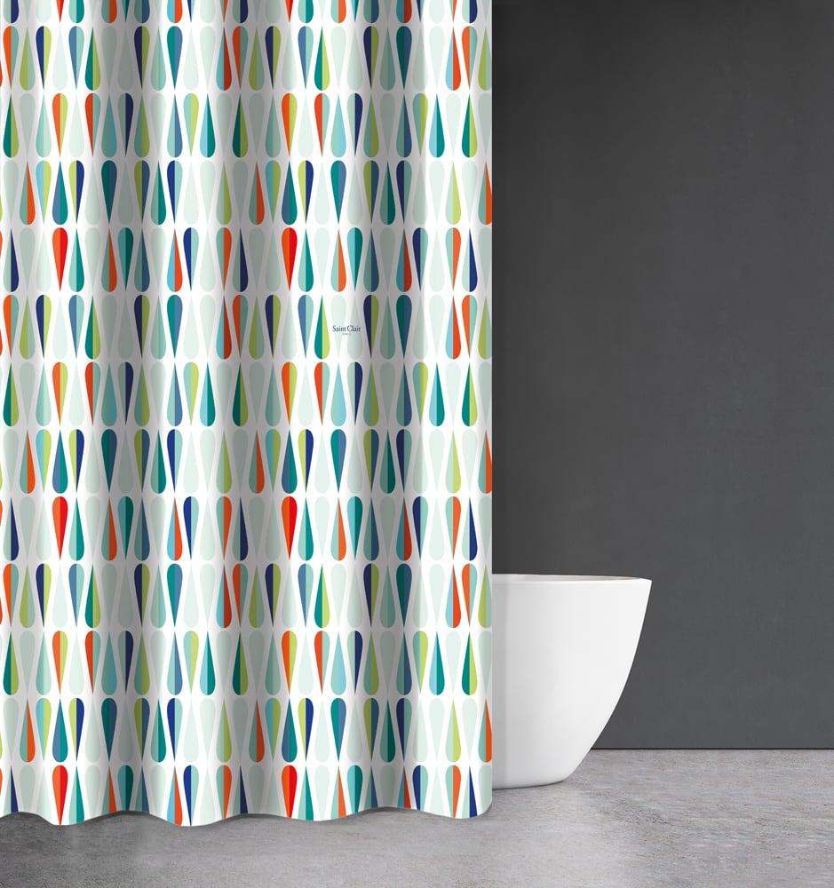 Κουρτίνα Μπάνιου Abstract Des 112 Multi Saint Clair Φάρδος 200cm 180x200cm