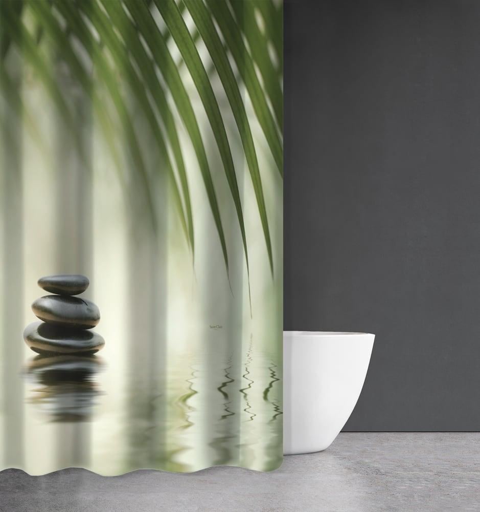 Κουρτίνα Μπάνιου Zen Body Des 811 Green Saint Clair Φάρδος 200cm 180x200cm