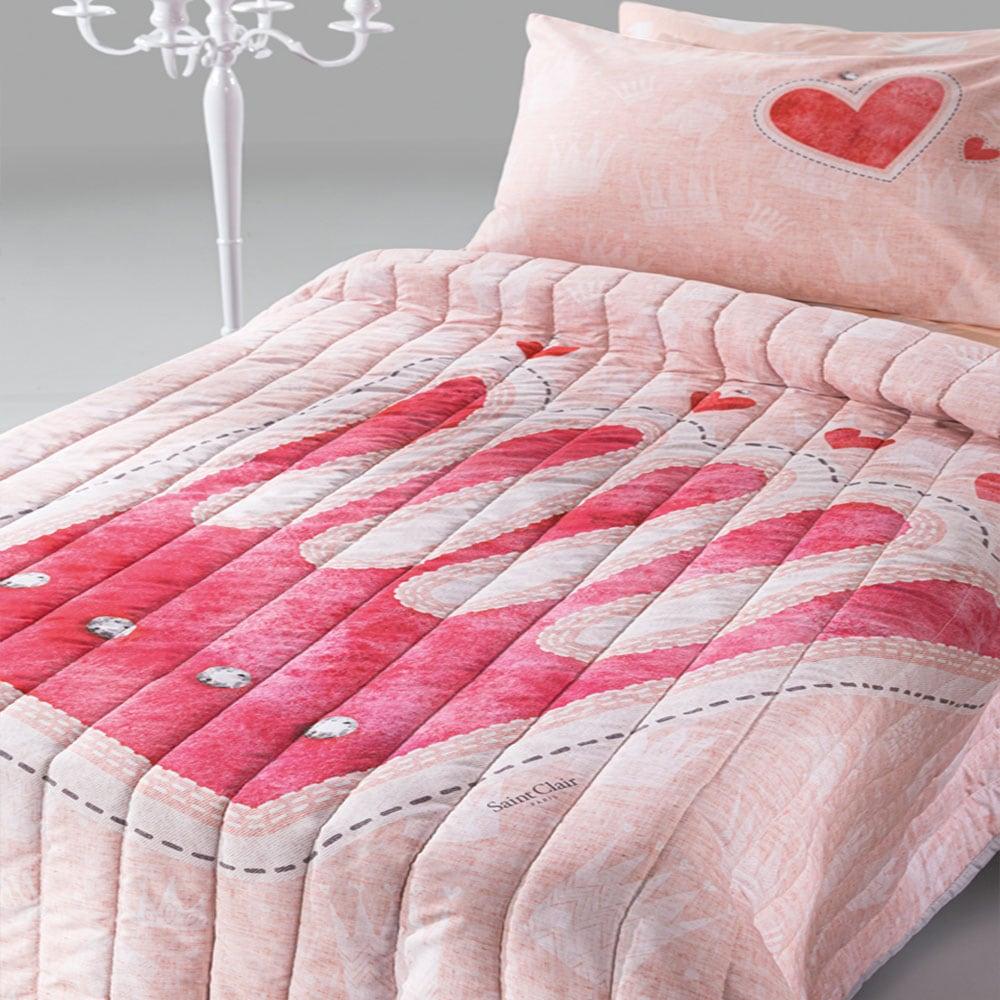 Πάπλωμα Παιδικό Tiara Suede Pink Saint Clair Μονό 160x220cm