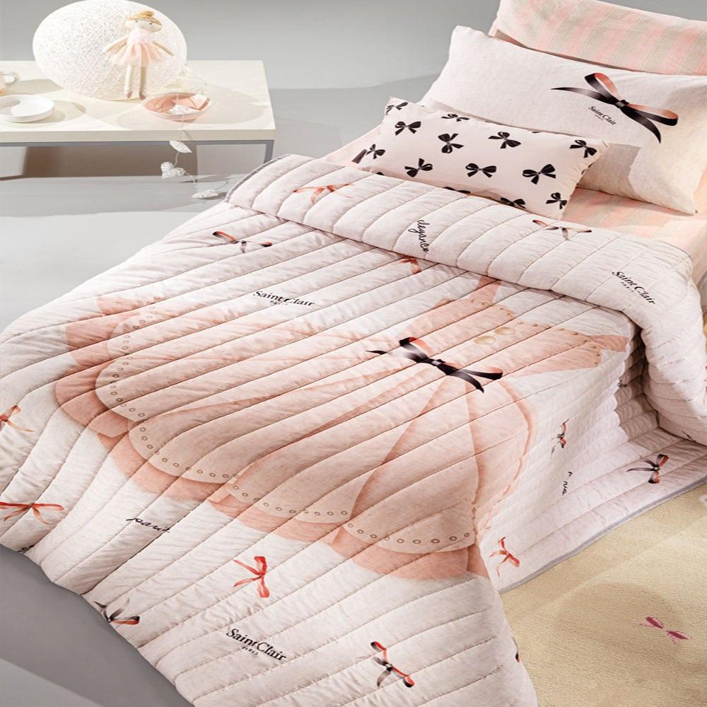 Πάπλωμα Παιδικό Grace Suede Pink Saint Clair Μονό 160x220cm