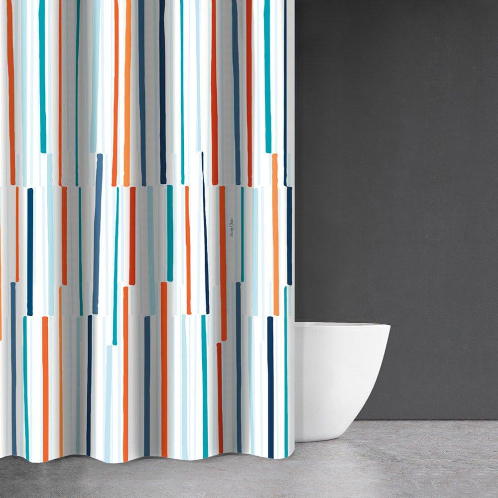 Κουρτίνα Μπάνιου Abstracy Multi Saint Clair Φάρδος 200cm