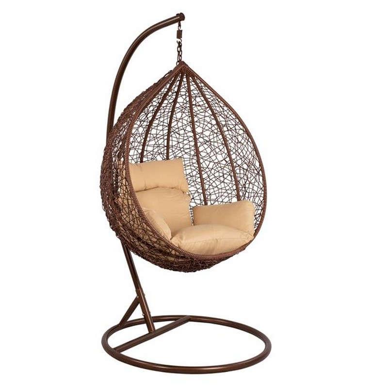 Κρεμαστή Πολυθρόνα-Φωλιά Brown 115x93 HM5540.01 Με Μαξιλάρι