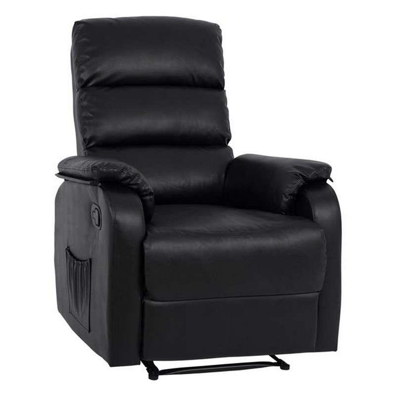 Πολυθρόνα Comfort Relax Με Μηχανισμό Massage 78x97x97 HM8316.01 Black