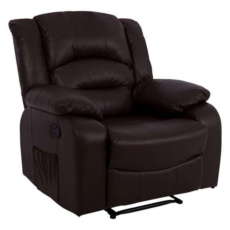 Πολυθρόνα Comfort Relax Με Μηχανισμό Massage 92x95x98 HM8317.02 Brown Pu