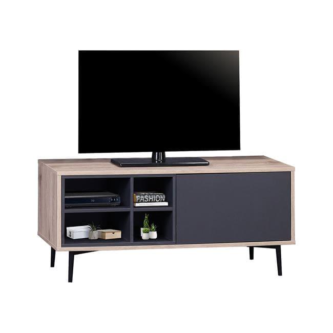Έπιπλο Τηλεόρασης Margarit HM8676 Black Natural 97x39x45Υ εκ.